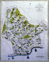 A Map Of The Hundreds Of Loningborough And Folkestone : E.Hasted