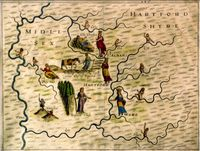 Untitled [Map Of Hertfordshire & Middlesex] : M.Drayton