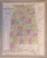 A New Map Of Alabama With Its Roads And Distances ... : S. A. Mitchell / Cowperthwait