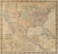 New Map ... North America, ... : J.Monk