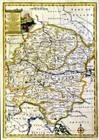 A New And Accurate Map Of The South East Part Of Germany : E.Bowen