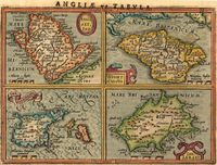 Anglesey, Ins. / Wight Ol.Vectis / Ins. Garnsey / Ins. Jarsey : G. Mercator / J. Hondius