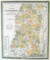 A New Map Of Mississippi : S.A.Mitchell