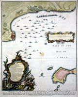 Draught Of Ye Bay Of Bulls...Town Of Rotta And Fort St.Catherine : I.Basire