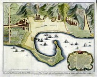 Plan Of The Works Of The City Of Messina ... A Fine Sea Port : I.Basire