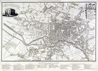 Plan Of The Town Of Leeds With The Recent Improvements ... : C.Fowler / E.Baines