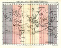 Time Chart Of The British Empire : J.Bartholomew