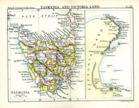 Tasmania, And Victoria Land : J.Bartholomew