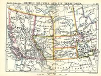 British Columbia, And N.W. Territories : J.Bartholomew