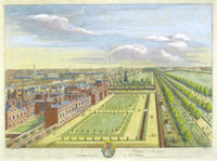 St. James's House ... Le Palais Royal De St. James : L.Knyff / J.Kip