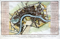 ... The City And Environs Of London, As Fortified .. 1642 & 1643 : Anonymous / A.Hogg