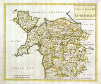 A New And Correct Map Of North Wales : R.Morden / Anonymous
