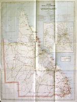 Railway Postal & Telegraph Map Of Queensland : Picturesque Atlas Publishing Co. / Clement Wragge