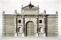 The Great Gate At Burlington House In Pickadilly ... : C.Campbell