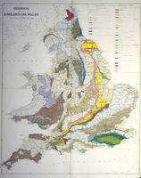 Geological Map Of England And Wales : Anonymous