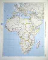 Mediterranean And Africa : J. Bartholomew / The Times