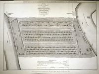 ... Plan Of The Proposed Docks At The Isle Of Dogs From Blackwall ... : S. Wyatt / J.Basire / Parliamentary Reports