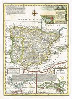 A New & Accurate Map Of Spain & Portugal. Drawn From Ye Latest Surveys & Most Approved Maps & Charts.  The Whole Being Adjusted By Astronomical Observations. : E. Bowen