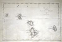 Chart Of The Society Isles, discovered by Lieut. J. Cook ... : J. Cook / J. Cheevors (engr.)