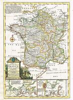 A New & Accurate Map Of France : E. Bowen