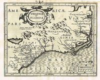 Virginia Et Florida : G. Mercator / J. Hondius