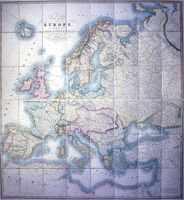 A New Map Of Europe Exhibiting Its Natural And Political Divisions : G. F. Cruchley