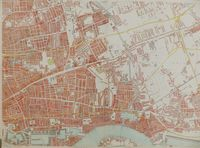 Cassell's Map Of London London (Eastern Sheet) ... : E. Weller / Weekly Dispatch