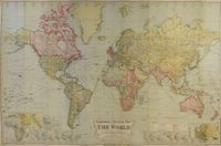 Commercial & Political Map Of The World On Mercator's Projection : A. Gross / Geographia Co. Inc