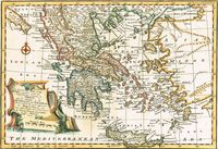 An Accurate Map Of The Morea Together With The Neighbouring Countries in Greece... : E. Bowen