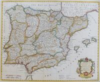 A Map Of The Kingdoms Of Spain And Portugal ... : R. W. Seale