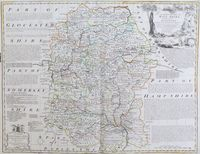 An Improved Map Of Wiltshire ... : E. Bowen