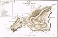 Map Of The Island Of Capri In The Gulf Of Naples : R. Ackermann / E. Gullan