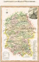 Langley's New Map Of Wiltshire : E. Langley / W. Belch