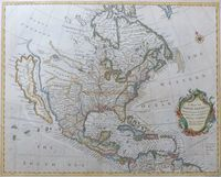 A Map Of North America With The European Settlements ... : R. W. Seale