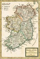 Ireland Divided Into Its Provinces & Counties : H. Moll