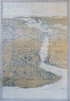 Colour Relief Map of Abyssinia and War Zone : S. J. Turner/Daily Herald
