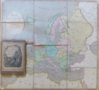Wallis's New Geographical Game Exhibiting a Tour Through Europe : J. Wallis