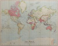Authentic Map of The World On Mercator's Projection : George Philip & Son Ltd