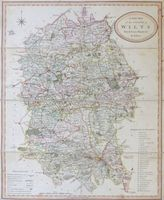 A New Map of the county of Wilts Divided into Hundreds : R. Rowe