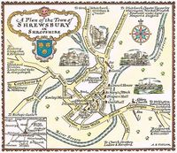 A Plan Of The Town of Shrewsbury in Shropshire : A. E. Taylor