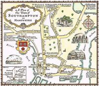 A Plan Of The Town of Southampton in Hampshire : A. E. Taylor