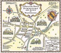 A Plan Of The Town of Stratford on Avon in Warwickshire : A. E. Taylor