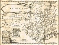 A Map Of The Eastern Part Of The Province Of New York ... : T. Kitchin / R. Baldwin / London Magazine