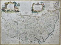 An Accurate Map Of The County Of Suffolk ... : E. Bowen