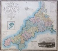 Map Of The County Of Cornwall : C. & J. Greenwood