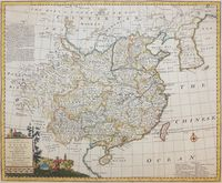 A New & Accurate Map Of China Drawn From Surveys ... : E. Bowen