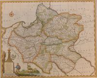 A New And Acuurate Map Of Poland, Lithuania &c ... Palatinats : E. Bowen