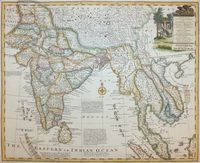 A New And Accurate Map Of The Empire Of The Great Mogul... : E. Bowen