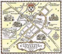 A Plan Of The City of Canterbury in Kent : A. E. Taylor
