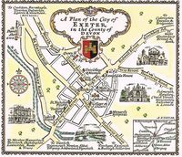 A Plan Of The City Of Exeter in the County of Devon : A. E. Taylor